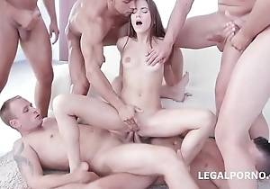 9on1 Double Anal Gang Bang relative to SUPER Nympho Evelina Darling!