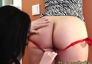 Slut marital-device fucks hooker