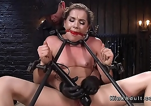 Bound slave regarding one the worse for wear up fucked