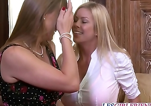 Stunning les Tanya Tate with the addition of Alexis Fawx