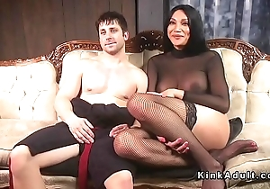 Tranny mistress anal bangs will not hear of slave
