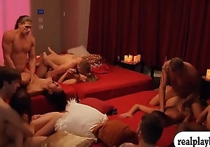 Couples swinging and massive groupsex
