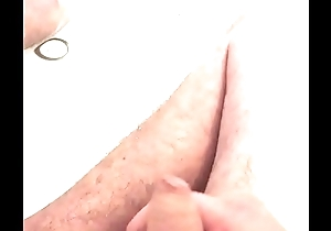 uncut cock jerking and pissing