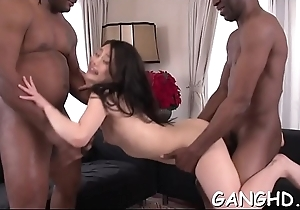 Oriental playgirl tames hard male dicks