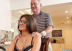 Teen Jeleana Marie Sucks and Fucks Old Individuals
