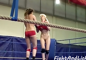 Wrestling babe ass drilling pretty dykes asshole