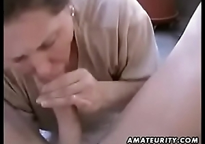 Chubby amateur wife homemade detach from 6969cams.com blowjob and fuck