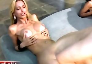 Four shebabes ride cocks with fat asses and fuck doggystyle