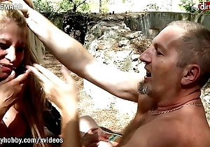 My Dirty Hobby - Busty milf gags on huge cock!