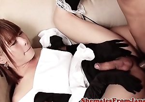 Asian trans beauty fucked in maid outfit