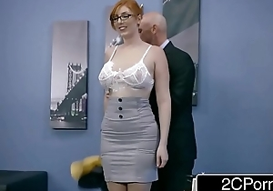Ginger Gripe Lauren Phillips Gets Pounded At Work