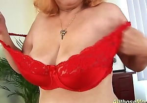 hairy redhead granny alone at home