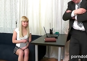 Sensual college girl gets tempted with the addition of reamed by say no to older teacher