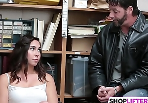 Teen shoplifter gets touched everywhere