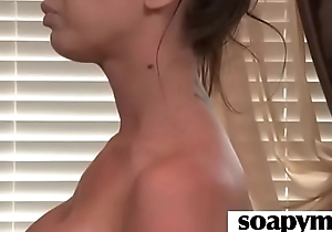 Babe in arms With Huge Tits Massages And Blows a Customer 3