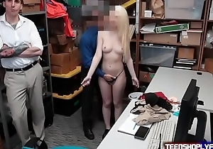 Cucked Guy Has To Stay Put While Teen is Filled Take Security Guards Hard Member