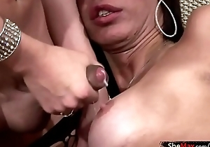 Chit fair anal drilling these four shedolls squirt jizz