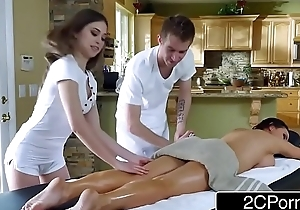 Sexy threesome massage - Nikki Benz, Riley Reid