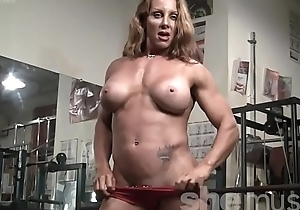 Naked Female Bodybuilder Sexy Red Headed Corporeality