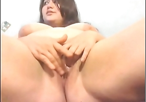 Latina BBW Plays With Hairy Pussy