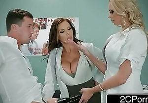 Dirty Nurse Threesome With One Lucky Guy - Nikki Benz, Briana Banks