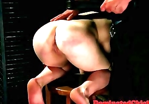 Euro sub spanked and banged by maledom