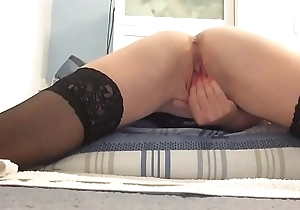 Watch me finger fuck plus rub my wet hairless pussy
