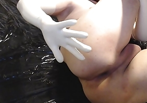 latex gloves anal cucumber part1