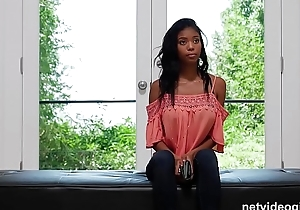Black 18 year with giant tits receives talked into a sex tape