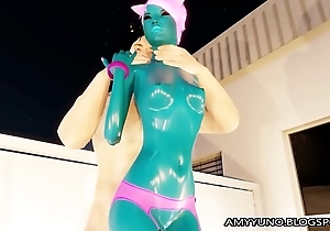 3D Blue Alien Girl With Small Special Blows Increased by Fucks!
