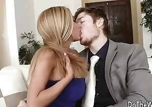 Hot blonde wife Subil Arch fucks in front of husband