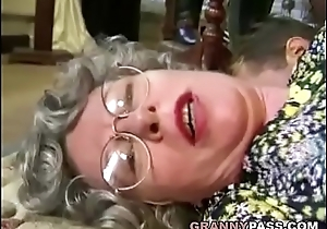 German Granny Can'_t Wait Relating to Fuck Young Delivery Guy