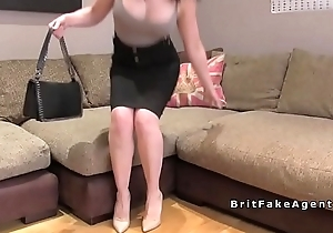 After interview busty babe fucked