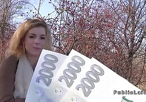 Amateur Czech legal age teenager bonks for money