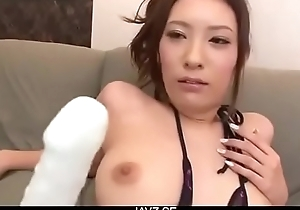 Yui Kasuga fucked with toys and jizzed on face - From JAVz.se